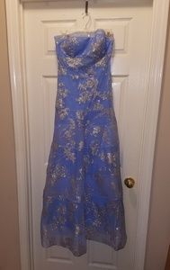 Ice blue formal/prom dress